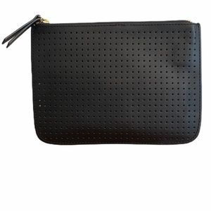 Gap Black Leather Perforated Clutch